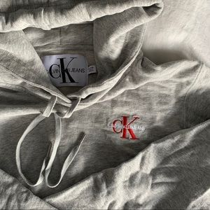 Calvin Klein Cropped Hoodie   XL